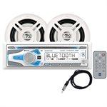 Ensemble Stéréo Marin AM / FM / CD / Bluetooth avec 2 haut-parleurs 6,5'' (blanc)