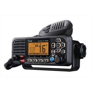 Radio VHF fixe ICOM M330G avec récepteur GPS et connectivité NMEA 0183 (noir)