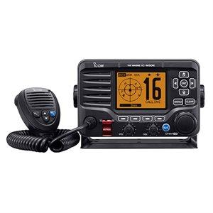 Radio VHF fixe M506 ICOM avec récepteur AIS et connectivité NMEA 2000® (noir)