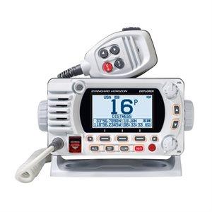 Radio VHF fixe Explorer GX1850G avec GPS de Standard Horizon (blanc)