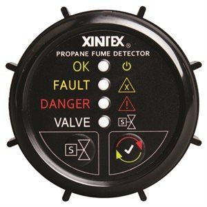 Xintex 2'' Round Propane Detector with 1 sensor and solenoid valve