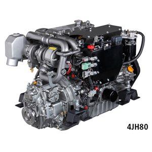 Yanmar diesel engine 4JH80 80HP with transmission 2,63:1