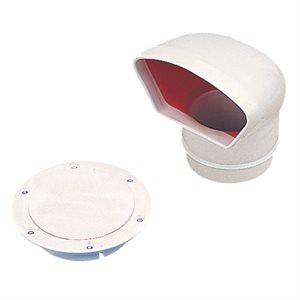 Sea-Dog Low profile pvc vent 3'' (white interior)